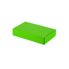 One Piece Postage & Gift Box 7391 - Premium Gloss Lime Green (White Inside)