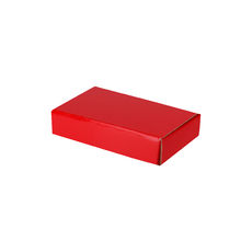 One Piece Postage & Gift Box 7391 - Premium Gloss Red (White Inside)