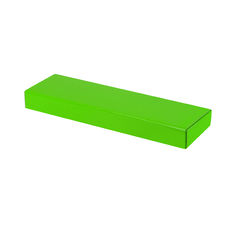 One Piece Postage & Gift Box 7428 - Premium Gloss Lime Green (White Inside)