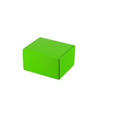 One Piece Postage & Gift Box 7429 - Premium Gloss Lime Green (White Inside)