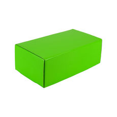 One Piece Postage & Gift Box 7430 - Premium Gloss Lime Green (White Inside)