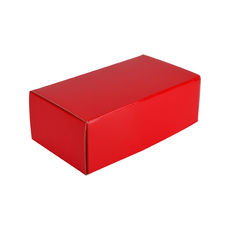 One Piece Postage & Gift Box 7430 - Premium Gloss Red (White Inside)