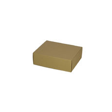 One Piece Postage & Gift Box 7432 -Kraft Brown (Brown Inside)