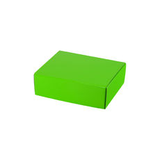 One Piece Postage & Gift Box 7432 - Premium Gloss Lime Green (White Inside)