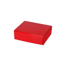 One Piece Postage & Gift Box 7432 - Premium Gloss Red (White Inside)