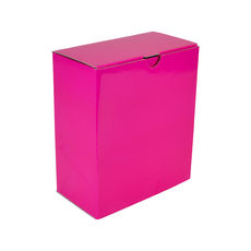 One Piece Postage & Gift Box 7523 - Premium Matt Hot Pink (White Inside)