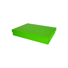 Two Piece Postage & Gift Box 7579 Base & Lid - Premium Gloss Lime Green (White Inside)