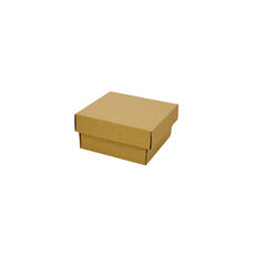Two Piece Postage & Gift Box 7580 Base & Lid -Kraft Brown (Brown Inside)