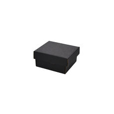 Two Piece Postage & Gift Box 7580 Base & Lid -Kraft Black (Double Sided Black)
