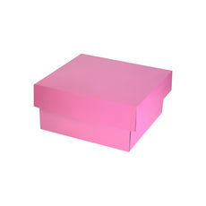 Two Piece Postage & Gift Box 7580 Base & Lid - Premium Gloss Baby Pink (White Inside)
