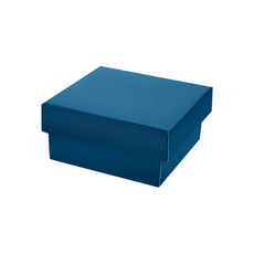 Two Piece Postage & Gift Box 7580 Base & Lid - Premium Matt Navy Blue (White Inside)