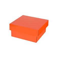 Two Piece Postage & Gift Box 7580 Base & Lid - Premium Gloss Orange (White Inside)