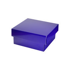 Two Piece Postage & Gift Box 7580 Base & Lid - Premium Gloss Purple (White Inside)