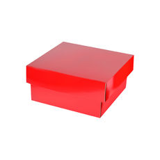Two Piece Postage & Gift Box 7580 - Premium Gloss Red  (White Inside)