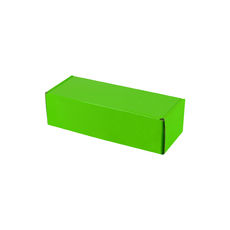 One Piece Postage & Gift Box 7645 - Premium Gloss Lime Green (White Inside)