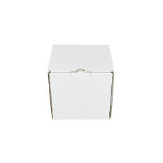 One Piece Postage Box 7695 - Kraft White (White Inside)