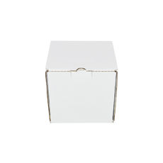 One Piece Postage Box 7696 - Kraft White (White Inside)