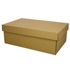 Two Piece Postage & Gift Box 8080 Base & Lid -Kraft Brown (Brown Inside)