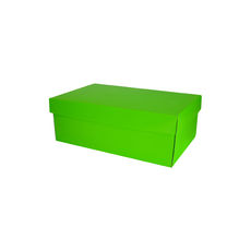 Two Piece Postage & Gift Box 8080 Base & Lid - Premium Gloss Lime Green (White Inside)