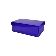 Two Piece Postage & Gift Box 8080 Base & Lid - Premium Gloss Purple (White Inside)