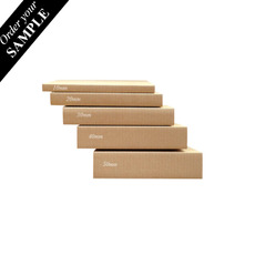 SAMPLE - B FLUTE - A5 Multi Crease Box - 1 Box 5 Heights (220mm x 158mm x 5 Different Height) - Kraft Brown