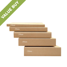 A3 Multi Crease Box Brown - 1 Box 5 Heights (430mm x 307mm x 5 Different Height) (Brown Inside)
