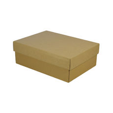 A4 Cardboard Gift Box - Brown 100mm High - Base & Lid