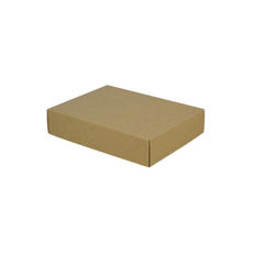 A5 Cardboard Gift Box - Kraft Brown 50mm High - Base & Lid (Brown Inside)