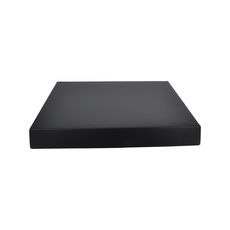 Large Square Cardboard Gift Box Base & Lid - Premium Matt Black 50mm High (White Inside)