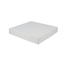 Large Square Cardboard Gift Box Base & Lid - White 50mm High (White Inside)