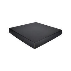 Extra Large Square Cardboard Gift Box - Premium Matt Black (White Inside)