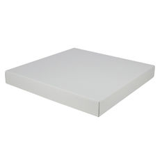 Extra Large Square Cardboard Gift Box Base & Lid - White 50mm High (White Inside)