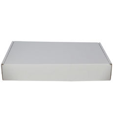 One Piece Wine Postage Box 9132A - Kraft White with optional insert (insert sold separately) (White Inside)