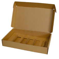 Insert for Wine Postage Box 9132A - Kraft Brown (Brown Inside)