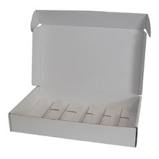Insert for Wine Postage Box 9132A - Kraft White (White Inside)