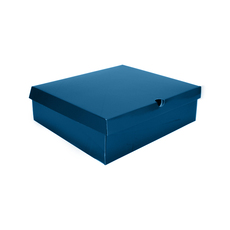 One Piece Boot & Shoe Box with Ventilation Pull Hole - Premium Matt Navy Blue (White Inside) Temp out of Stock