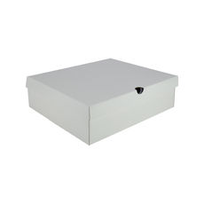 One Piece Boot & Shoe Box with Ventilation Pull Hole - Premium Matt White (White Inside)