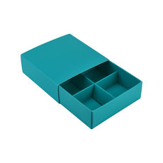 4 Pack Chocolate Box Slide over cover with removable inserts - Matt Blue  - Paperboard - Temp out of Stock