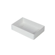 Rectangle 6 Gift Box with Clear Lid - Smooth White  - Paperboard