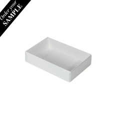 SAMPLE - Rectangle 6 Gift Box with Clear Lid - Smooth White