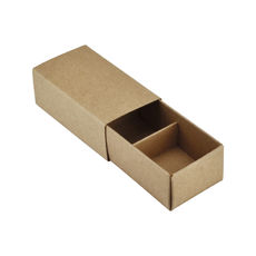 2 Pack Chocolate Box (Slide over cover) - Kraft Brown Paperboard (285gsm)
