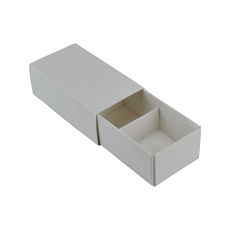 2 Pack Chocolate Box Slide over cover with removable inserts - Gloss White (White Inside)