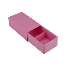 2 Pack Chocolate Box Slide over cover with removable inserts - Matt Pink