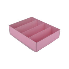 24 Macaron Box with insert & Clear Lid - Matt Pink - Paperboard - Temp out of Stock