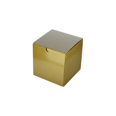 Candle Box 80/80 - Premium Gloss Gold (White Inside)