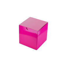 Candle Box 80/80 - Premium Gloss Hot Pink (White Inside)