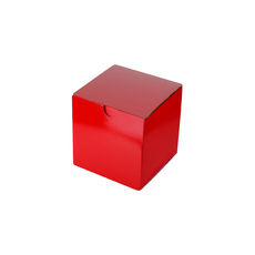 Candle Box 80/80 - Premium Gloss Red (White Inside)