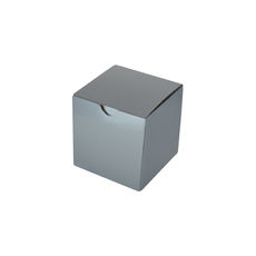 Candle Box 80/80 - Premium Gloss Silver (White Inside)
