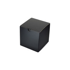 Candle Box 80/80 - Premium Matt Black (White Inside)