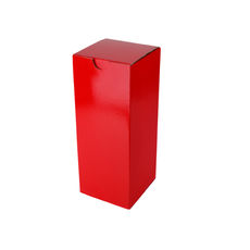 Candle Box 80/200 - Premium Gloss Red (White Inside)